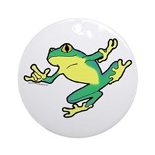 ASL Frog in Flight Ornament (Round)