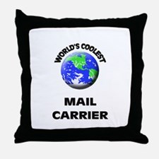 World's Coolest Mail Carrier Throw Pillow