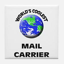 World's Coolest Mail Carrier Tile Coaster