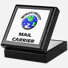 World's Coolest Mail Carrier Keepsake Box