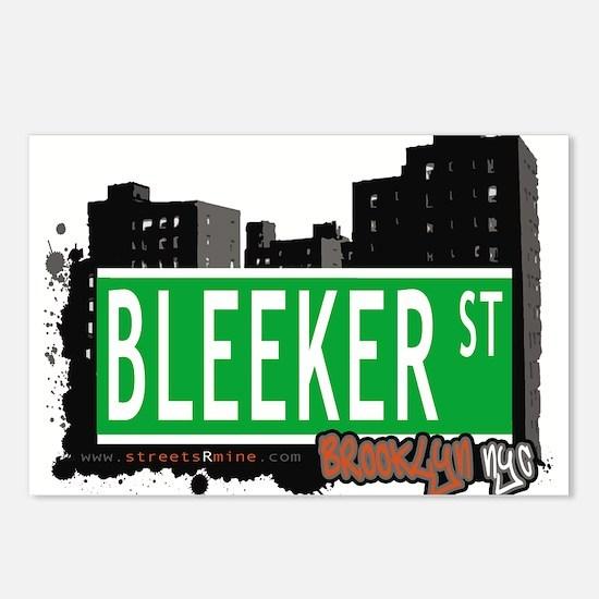 Bleeker street, BROOKLYN, NYC Postcards (Package o