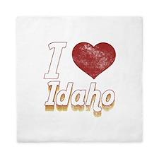 I Love Idaho (Vintage) Queen Duvet