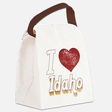 I Love Idaho (Vintage) Canvas Lunch Bag