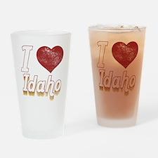 I Love Idaho (Vintage) Drinking Glass