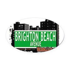 Brighton Beach avenue, BROOKLYN, NYC Oval Car Magn