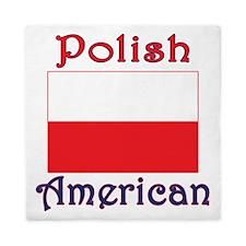 Polish American Flag Queen Duvet