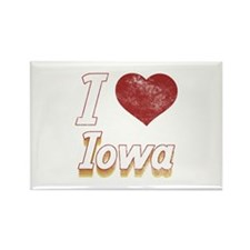 I Love Iowa (Vintage) Rectangle Magnet