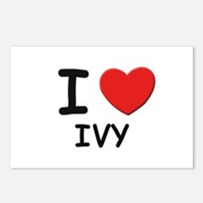 I love ivy Postcards (Package of 8)