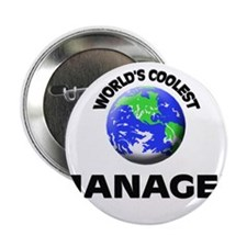 """World's Coolest Manager 2.25"""" Button"""