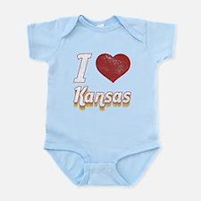 I Love Kansas (Vintage) Infant Bodysuit