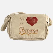 I Love Kansas (Vintage) Messenger Bag