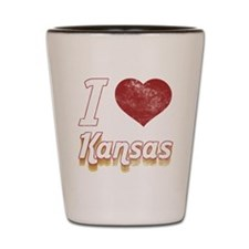 I Love Kansas (Vintage) Shot Glass