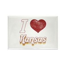 I Love Kansas (Vintage) Rectangle Magnet