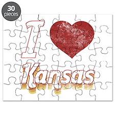 I Love Kansas (Vintage) Puzzle