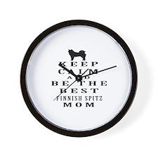 Keep Calm Finnish Spitz Designs Wall Clock