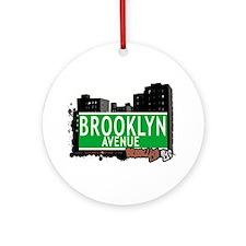 Brooklyn avenue, BROOKLYN, NYC Ornament (Round)