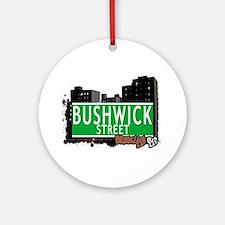 Bushwick street, BROOKLYN, NYC Ornament (Round)