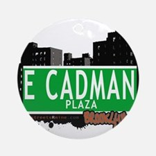 E Cadman plaza, BROOKLYN, NYC Ornament (Round)