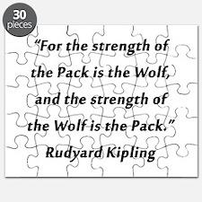 Kipling - Strength of Pack Puzzle