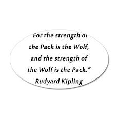 Kipling - Strength of Pack Wall Decal