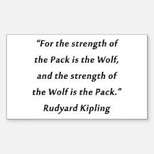 Kipling - Strength of Pack Decal