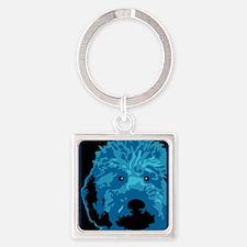 Funny Obama dog Square Keychain