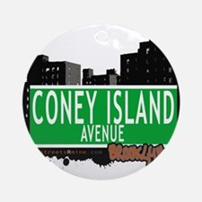 Coney Island avenue, BROOKLYN, NYC Ornament (Round