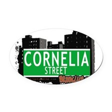 Cornelia street, BROOKLYN, NYC Oval Car Magnet