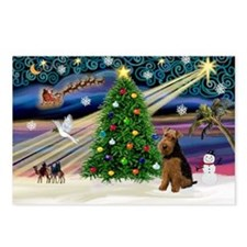 Xmas Magic & Welsh Terrier Postcards (Package of 8