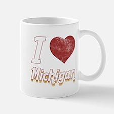 I Love Michigan (Vintage) Mug