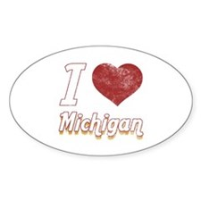 I Love Michigan (Vintage) Decal