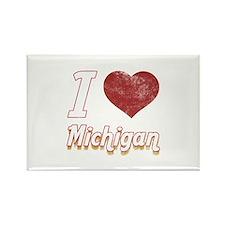 I Love Michigan (Vintage) Rectangle Magnet