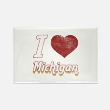 I Love Michigan (Vintage) Rectangle Magnet