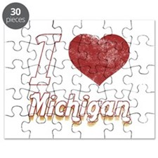 I Love Michigan (Vintage) Puzzle