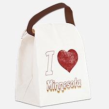 I Love Minnesota (Vintage) Canvas Lunch Bag