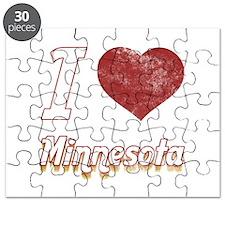 I Love Minnesota (Vintage) Puzzle