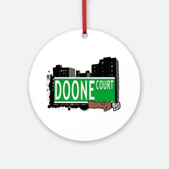 DOONE COURT, BROOKLYN, NYC Ornament (Round)