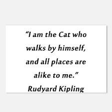 Kipling - Cat Who Walks Postcards (Package of 8)