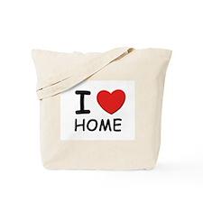 I love home Tote Bag