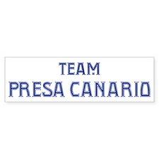 Team Presa Canario Bumper Bumper Sticker