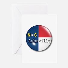 Asheville North Carolina Flag Greeting Cards (Pack