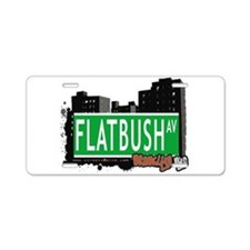FLATBUSH AV, BROOKLYN, NYC Aluminum License Plate