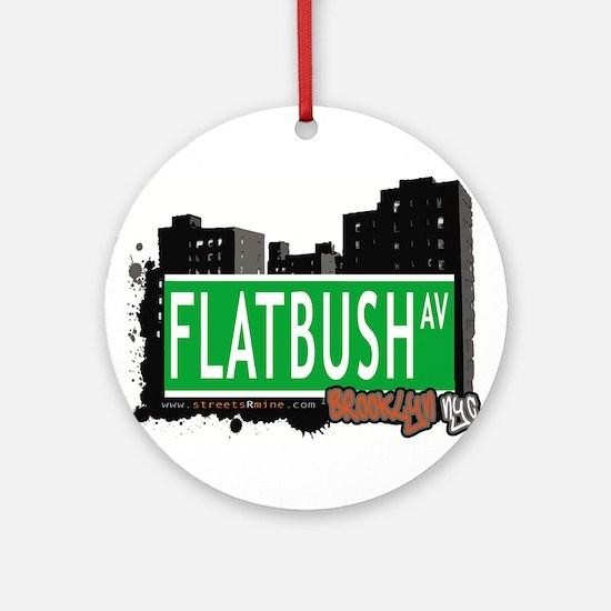 FLATBUSH AV, BROOKLYN, NYC Ornament (Round)