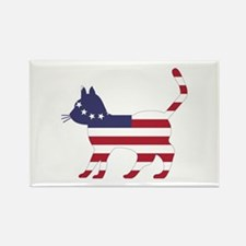 Betsy Ross Flag Cat Icon Rectangle Magnet (100 pac