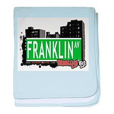 FRANKLIN AV, BROOKLYN, NYC baby blanket