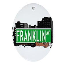 FRANKLIN AV, BROOKLYN, NYC Ornament (Oval)