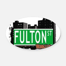 FULTON ST, BROOKLYN, NYC Oval Car Magnet