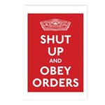 Shut Up & Obey Postcards (Package of 8)