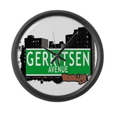 GERRITSEN AVENUE, BROOKLYN, NYC Large Wall Clock