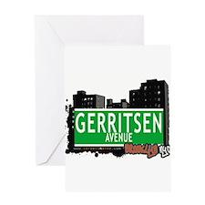 GERRITSEN AVENUE, BROOKLYN, NYC Greeting Card